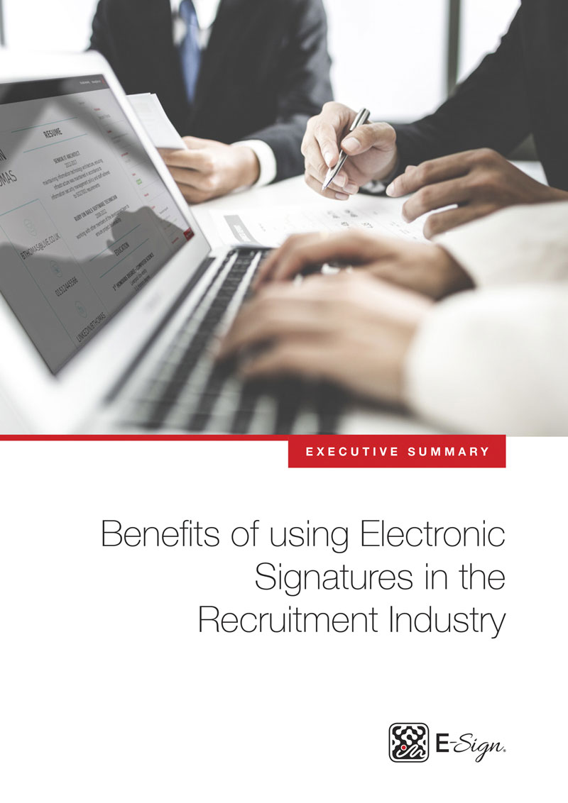 Benefits Of Using Electronic Signatures In The Recruitment Industry