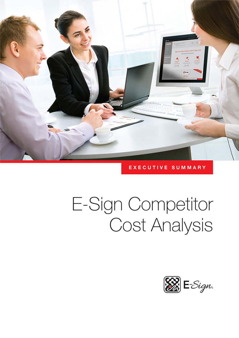 E-Sign Competitor Cost Analysis