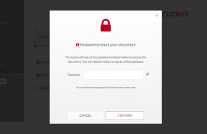 E-Sign add a passcode for signer