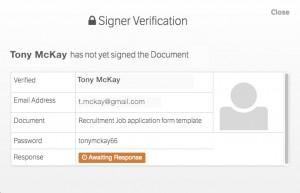 E-Sign signer verification