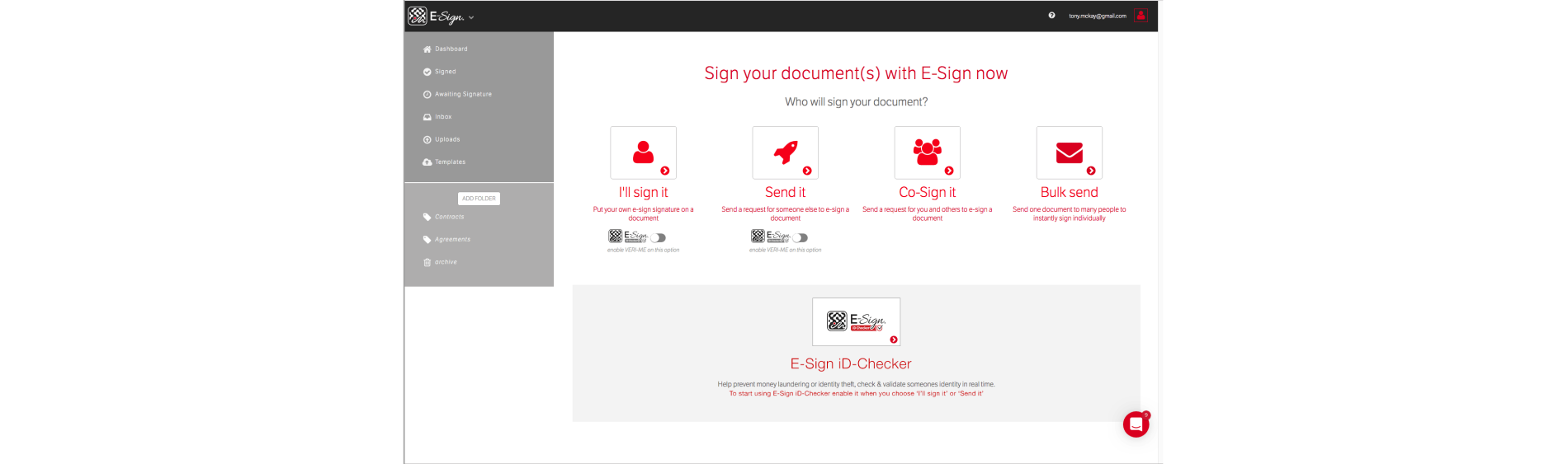 E Sign Process Dashboard