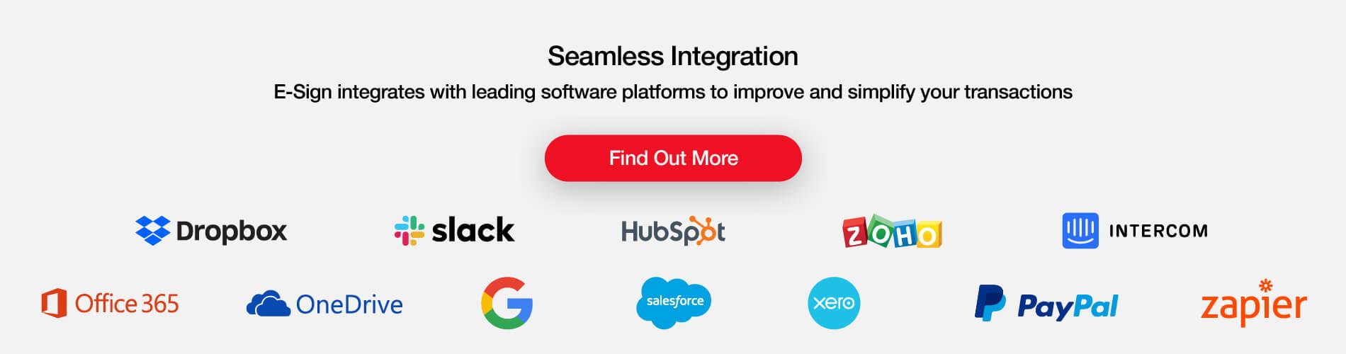 E-Sign seamless integration